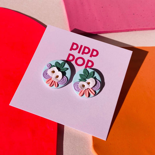 Pip's Poppies Studs-Pipp Pop