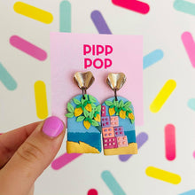 Load image into Gallery viewer, La Vita Bella Statement Earrings-Pipp Pop