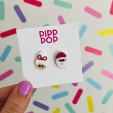 Load image into Gallery viewer, Mr & Mrs Claus Studs-Pipp Pop