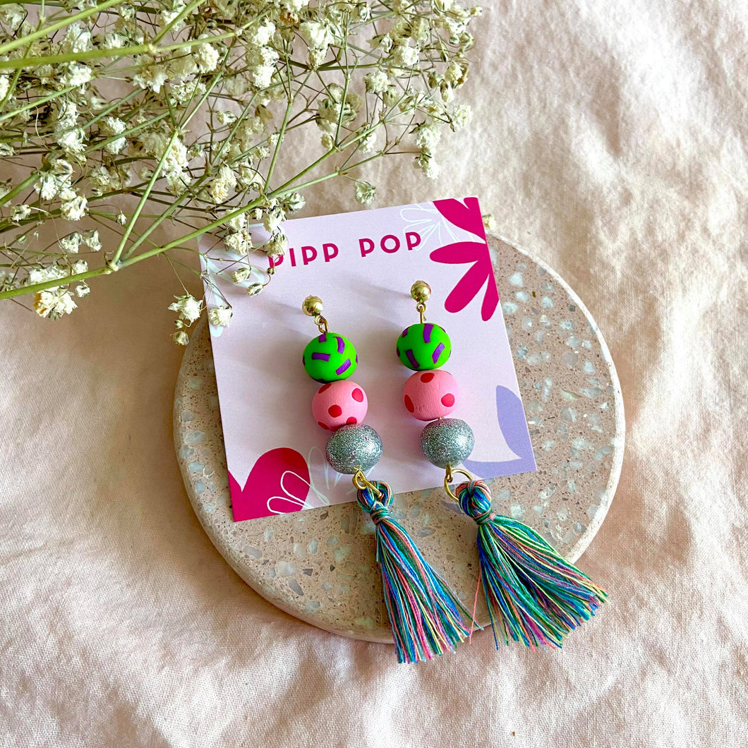 Party Popper Tassel Dangles-Pipp Pop