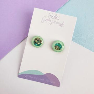 Hello Gorgeous - Zoe Studs - Bora Bora - 15mm-Pipp Pop