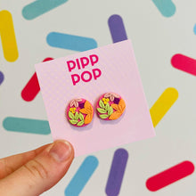 Load image into Gallery viewer, Nouveau Floral Studs-Pipp Pop
