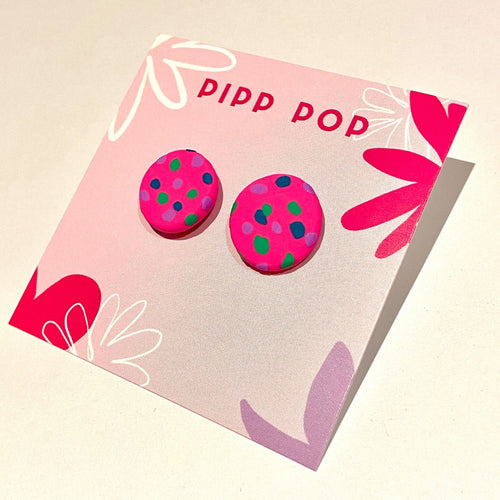 Confetti Studs - Neon Pink, Parakeet, Navy and Lilac-Pipp Pop