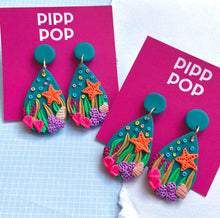 Load image into Gallery viewer, Coral Baskin Dangles-Pipp Pop