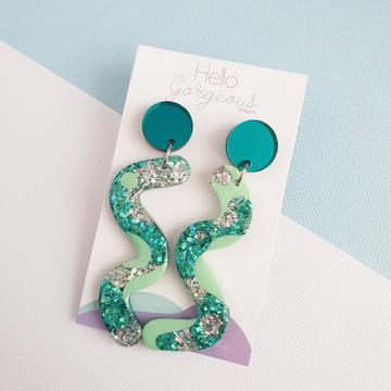 Hello Gorgeous - Squiggle Dangles - Tahiti-Pipp Pop