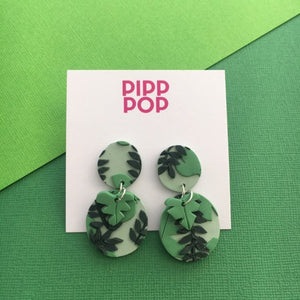 Looking Vine Statement Dangle Earrings-Pipp Pop