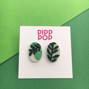 Looking Vine Oval Statement Stud-Pipp Pop