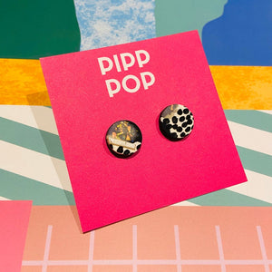 Black and White Studs-Pipp Pop