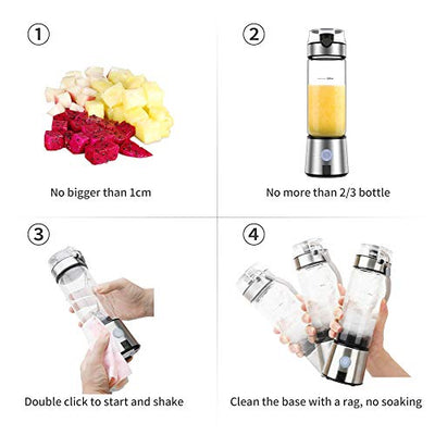 Ayyie Personal, Rechargeable Portable Juicer Cup, Multifunctional Small Blender