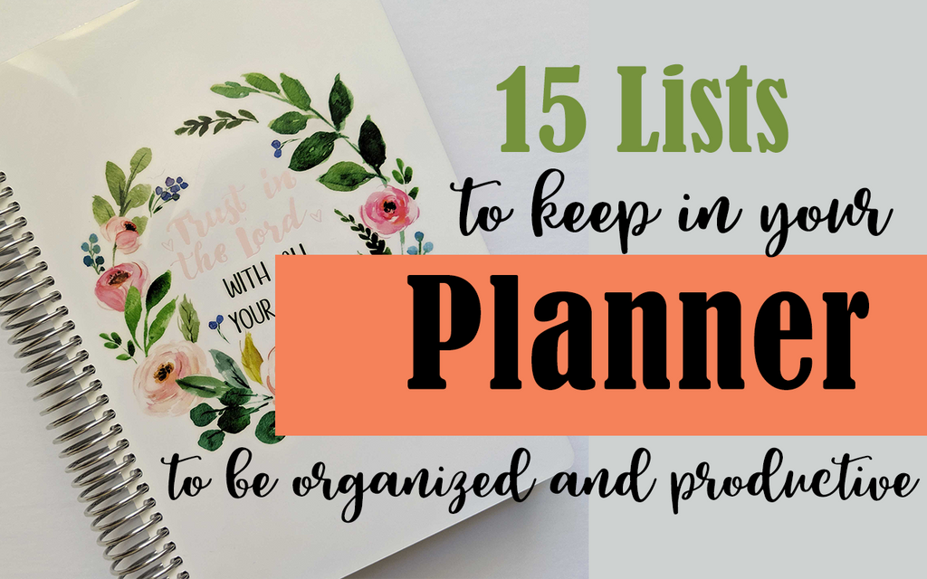 15 lists to keep in your planner
