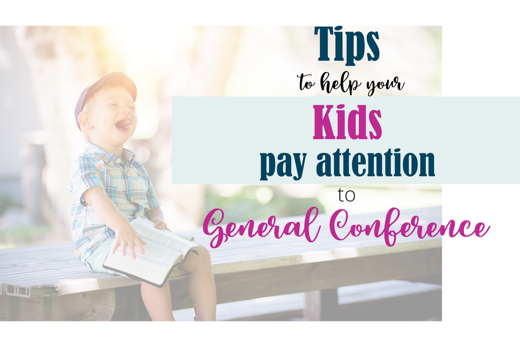 Kids Pay attention to General Conference