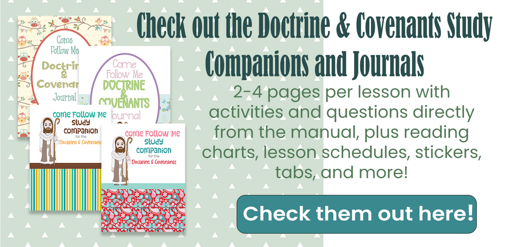 Doctrine and Covenants printables for Come Follow Me