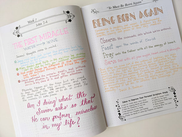 Scripture Journal example page