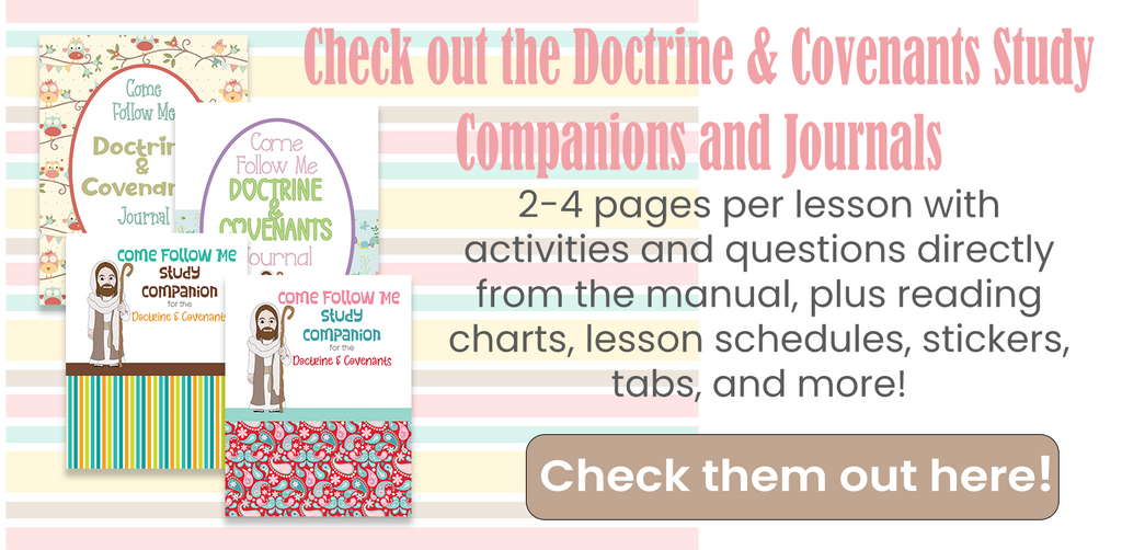 Come Follow Me Workbooks and Journals for the Doctrine and Covenants