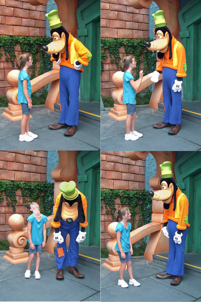 Goofy being Goofy makes for fun Disneyland photos