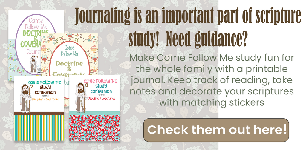 Doctrine and Covenants Printable Journal for Come Follow Me