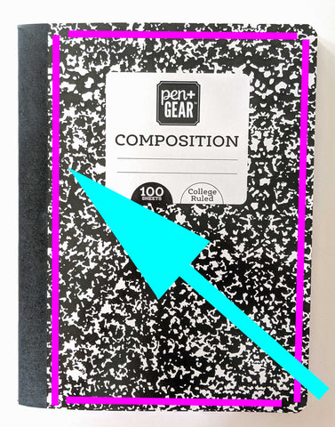 Easy DIY Composition book journal
