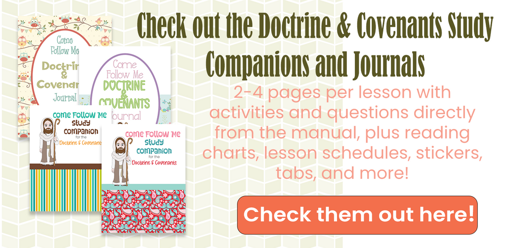 Come Follow Me Lesson Helps Doctrine and Covenants