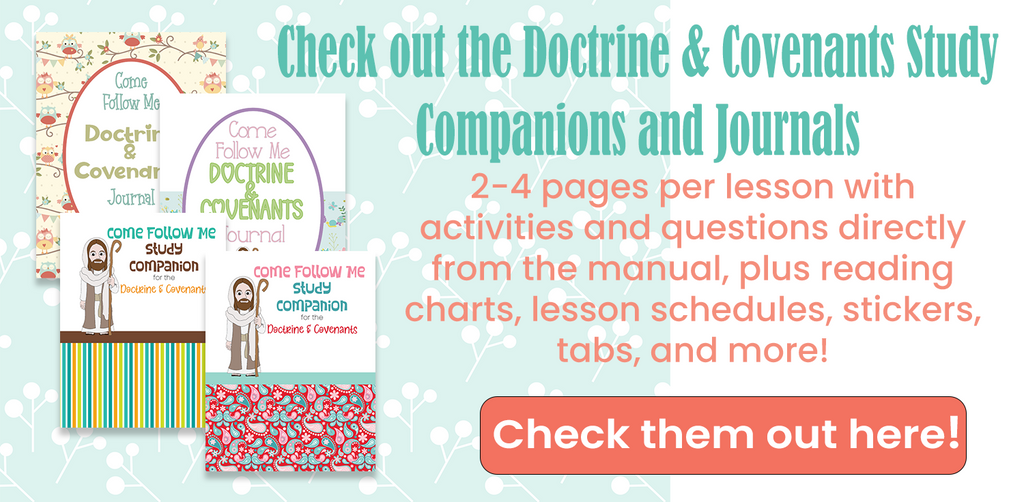 Come Follow Me Journals and Workbooks Doctrine and Covenants