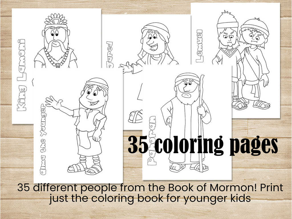 Book of Mormon Coloring book