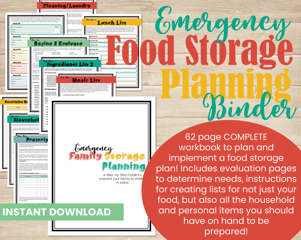 Food Storage Planning Binder