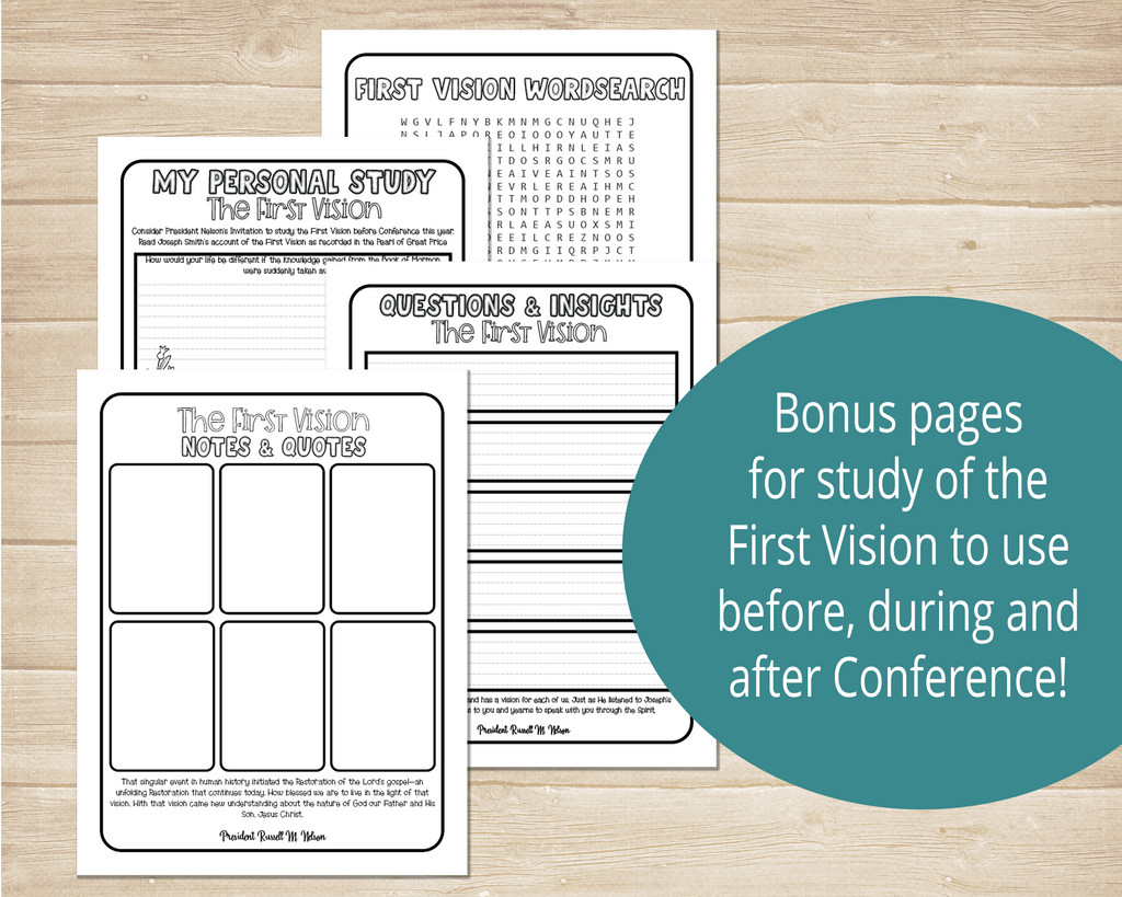 First Vision Worksheets
