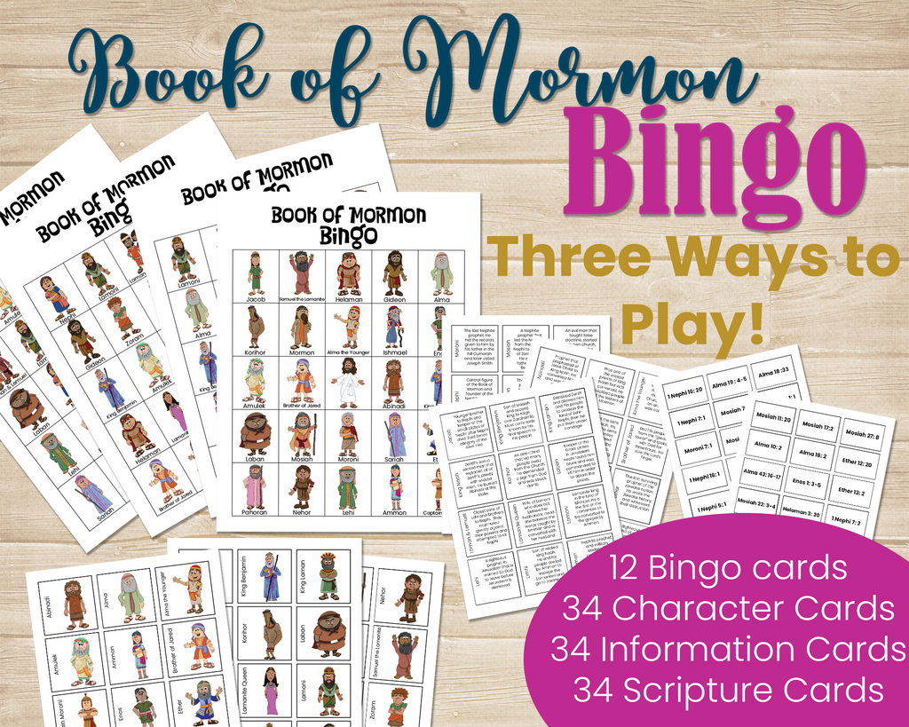Book of Mormon Scripture Study Games