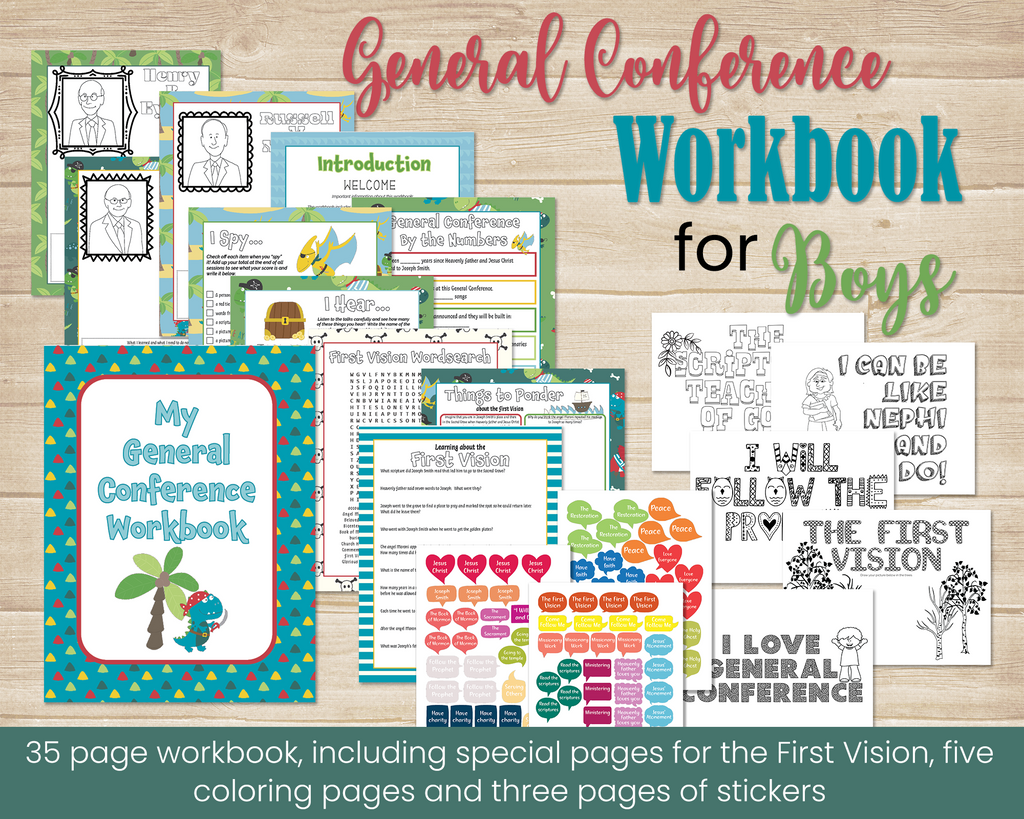 General Conference Workbook for boys