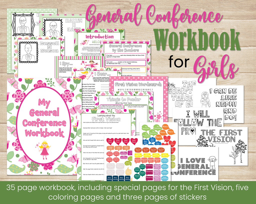 General Conference Workbook for girls