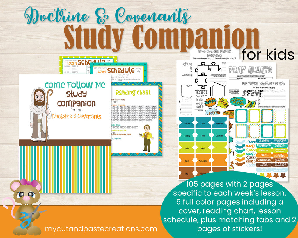 Come Follow Me 2021  - Doctrine and Covenants Workbook for kids - Kids LDS journal - Come Follow Me Journal - D&C 2021 - D and C Study Guide