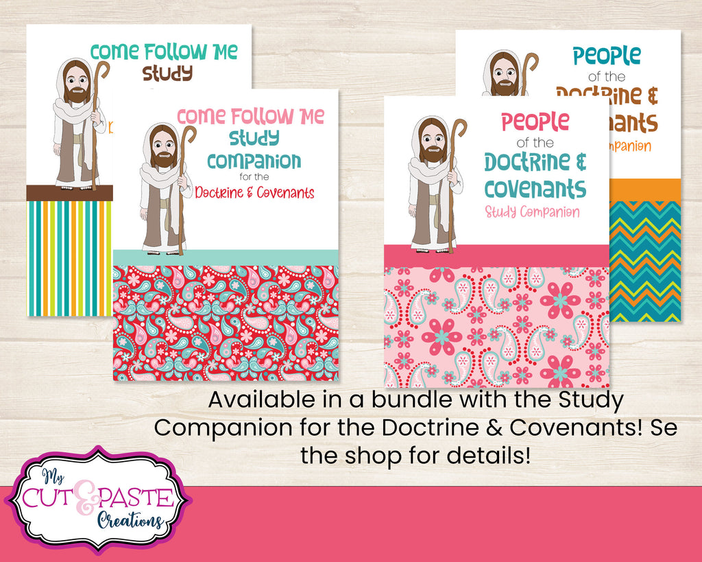 Come Follow Me 2021 - People of the Doctrine and Covenants Coloring Book - D&C Workbook 2021 - LDS Kids coloring book - Kids scripture study