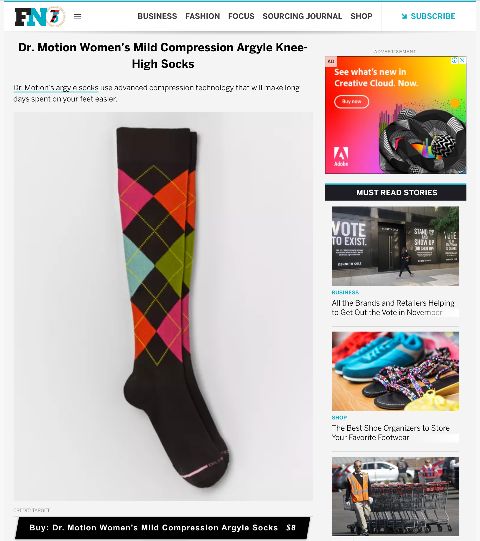 footwear news features dr.motion socks