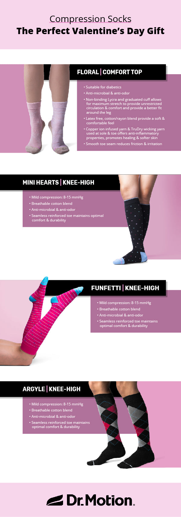 Valentine's day gifts for runners, cute compression socks, fun compression socks for women, graduated compression, cool socks, perfect valentine's