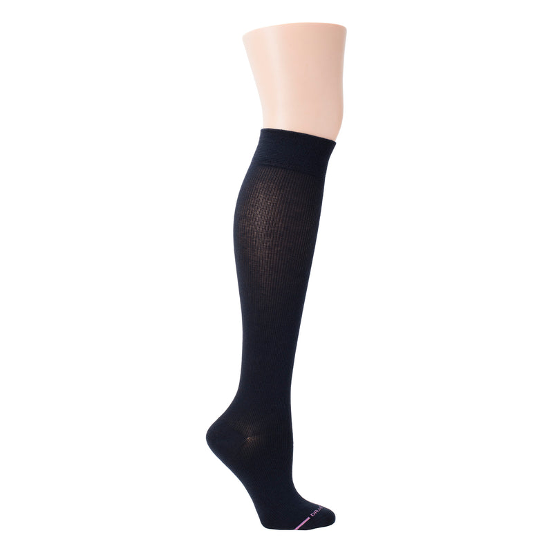 Solid Cotton Blend | Knee-High Compression Socks For Women