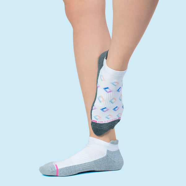 Geo Diamonds | Ankle Compression Socks For Women