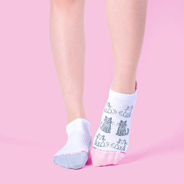 Kitties | Ankle Compression Socks For Women
