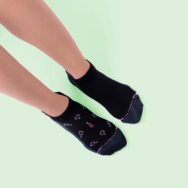 Wine | Ankle Compression Socks For Women