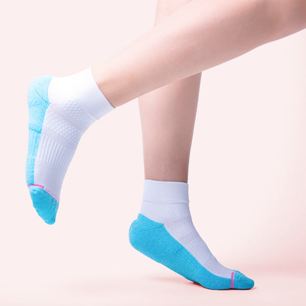 Colored Half-Cushion | Quarter Compression Socks For Women