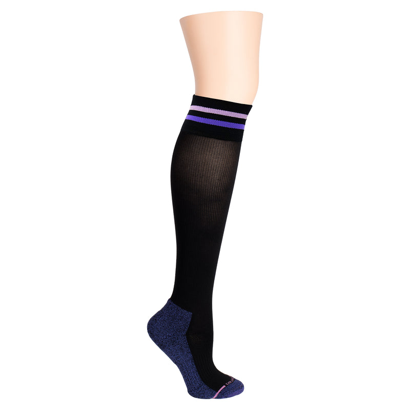 Cuff Stripe | Knee-High Compression Socks For Women