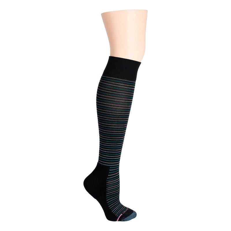 Tri-Color Stripe | Knee-High Compression Socks For Women