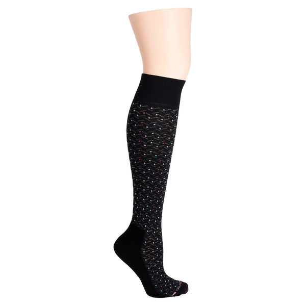 Dots & Hbone | Knee-High Compression Socks For Women