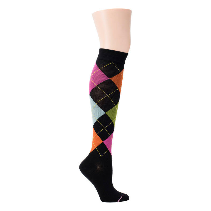 Argyle | Knee-High Compression Socks For Women