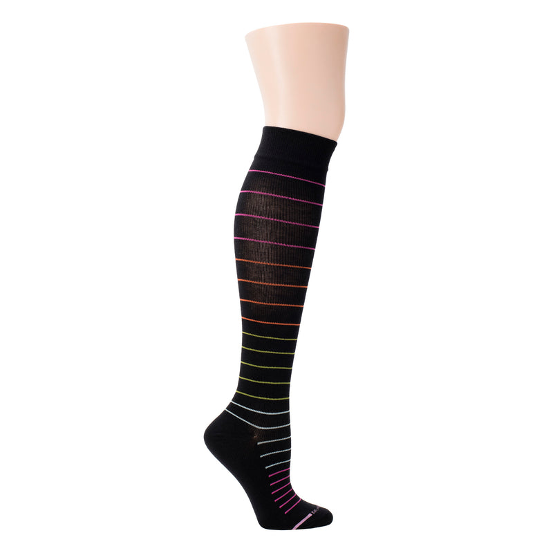 Multi-Color Pinstripe | Knee-High Compression Socks For Women