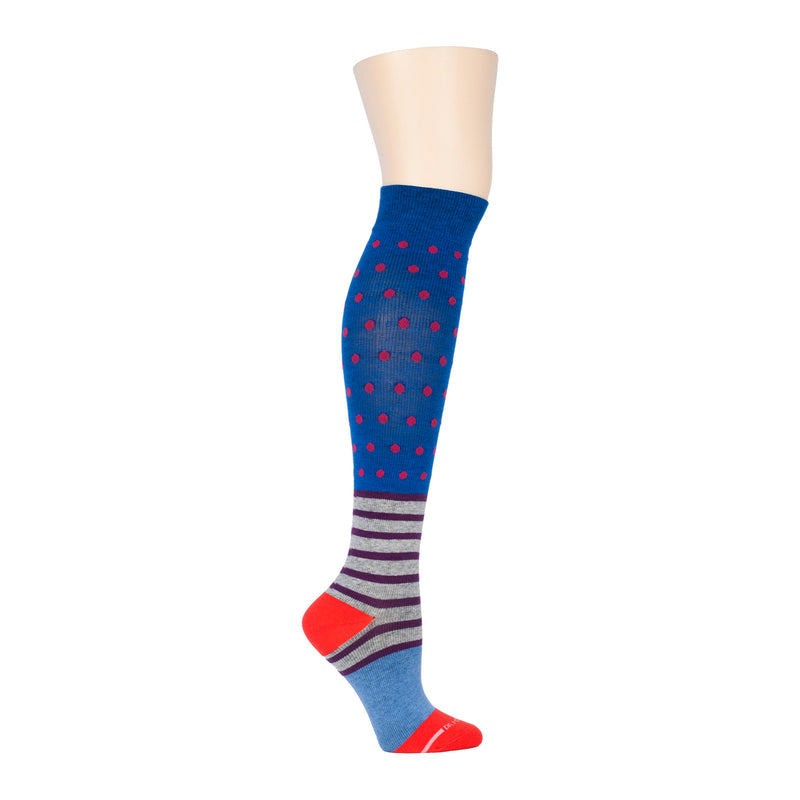 Dots & Stripes | Knee-High Compression Socks For Women