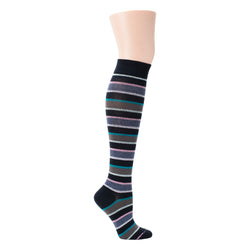 Bright Stripes | Knee-High Compression Socks For Women
