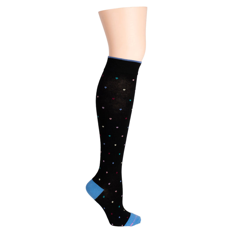 Mini Hearts | Knee-High Compression Socks For Women