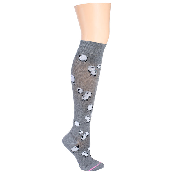 Sheep Farm | Knee-High Compression Socks For Women