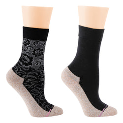 Floral Texture | Comfort Top Half-Cushion Socks For Women