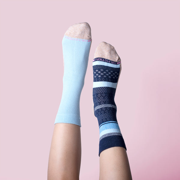 Multi Stripe Texture | Comfort Top Half-Cushion Socks For Women