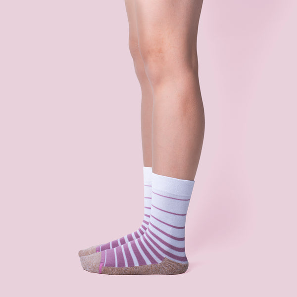 Gradated Stripe | Comfort Top Half-Cushion Socks For Women